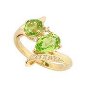 photo:18K Yellow Gold peridot design ring total 1.5ctUP